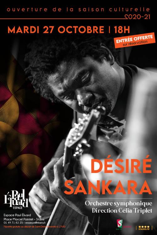 Affiche concert ouverture saison Stains - Désiré Sankara